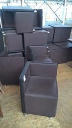 Пуф кресло кожзам коричневый б/у для ресторана кафе кофейни бара офиса
