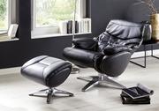 Луцьк Крісло шезлонг Relax з оттоманом,  респектабельний комплект В крі