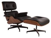 Дніпро Дизайнерське крісло Eames Lounge з оттоманом з натурального дер