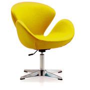 Мягкое кресло Сван,  цвет желтый