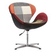 Кресло Сван,  основание металл,  ткань,  цвет пачворк